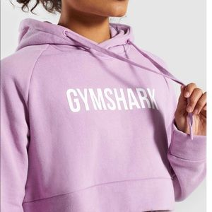 NWT Gymshark Crest Cropped Hoodie - Pink